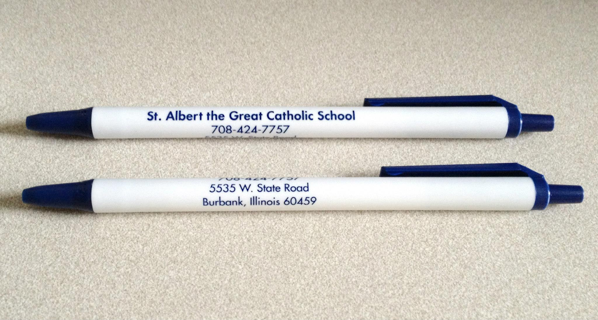 St Albert The Great School Bic Clic Stic Pens